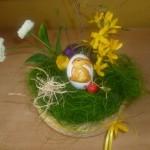 AG Basteln und Gestalten - Dieser Kranz aus Gräsern, Kräutern und Blüten ist die Arbeit einer Schülerin.